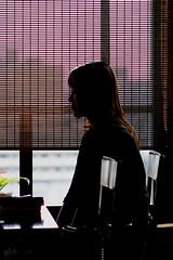 Restaurant (mrhayata) Tags: woman window girl silhouette japan table geotagged restaurant chair  yokohama kanagawa        geo:lat=354539397 geo:lon=1396380892 mrhayata