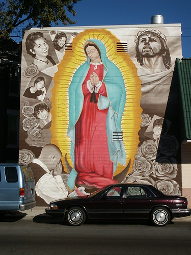 The virgen looms large
