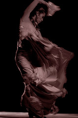 0343 Shimmering Flamenco (TriggerImage) Tags: woman motion girl flow dance movement spain power dress emotion feminine stock ole move andalucia fabric swirl gypsy flamenco trance billow abigfave artlibre frhwofavs