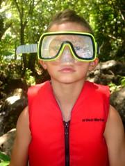 mr mask (rockgirl2670) Tags: beach creek hawaii mud kauai haena