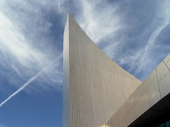 To the Point (Neil101) Tags: blue sky abstract building geometric metal museum architecture clouds silver point manchester interestingness war industrial contemporary north shapes imperial salford quays vapour metalic bbcmanchesterblog