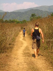 Following a trail (dbz885) Tags: show brown wonder slow snake walk secret run follow trail mystical cave meander skip laos pathway vangvieng following parched mattkoster