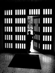 Exit Boy Light (kreego) Tags: door blackandwhite bw france silhouette blackwhite frankreich grdigital ricoh ricohgrdigital frostedglass grd crestvoland ricohgrd lecernix kreego christianharberts franzoesischealpen