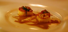 2nd: Course Raisin-Caper Scallops
