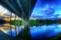 Under the bridge (Amundn) Tags: bridge reflection water colorful saturation trondheim e6 hdr nidarosdomen 3xp interestingness6 nidelven elgeseterbru potwkkc2
