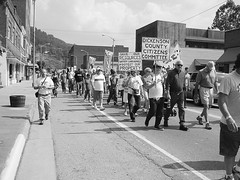 Residents of Appalachia, VA, held a march in response to the death of Jeremy Davidson, a three-year old boy who was killed in his sleep when a boulder from a mining operation crashed through the roof of his home.