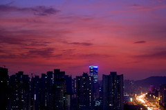 sunset outside my office window (shenxy) Tags: guangzhou china city light sunset red night landscape guangdong 25faves