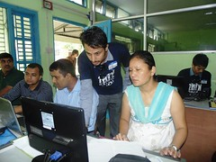 NAGSS Trainer Helping a Participant