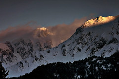 Sharr Mountains (azem) Tags: winter sunset mountain snow mountains clouds canon landscape eos azem kosova kosovo soe 2007 sharri sharr