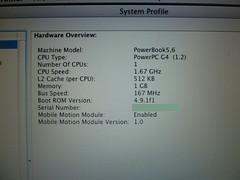 PowerBook G4 (5,6) – LCD problems (XBHS1997 (Nicolas)) Tags: apple powerbook macintosh powermacintosh  powerbookg4 powerpc applepowerbook applemacintosh appleg4 macg4 applepowerbookg4 applepowermacintosh powerbook56 applepowerbook56