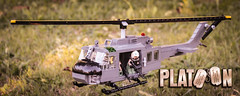 PLATOON MOC - Huey on the road #1 (kr1minal) Tags: lego vietnam huey minifig custom moc brickmania