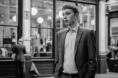 city boy (jonron239) Tags: boy man london rain leadenhallmarket suit