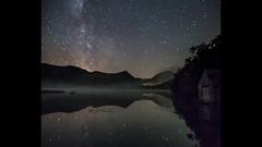 Misty Way (elganjones1) Tags: sky mist lake wales night canon reflections way stars jones timelapse f14 north cymru 24mm milky 6d elgan samynag
