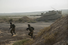 High-Ranking Officers Training near Tze'elim (Israel Defense Forces) Tags: infantry training sand tank soldiers officers merkava armoredcorps groundforces merkava4m