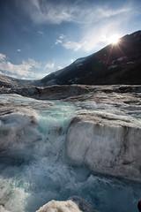 Glacial melt (Mark Heine Photos) Tags: ca canada ice melting jasper britishcolumbia glacier alpine alberta jaspernationalpark continentaldivide columbiaicefield canadianrockies glacialwater rockflour mtandromeda athabaskaglacier markheine