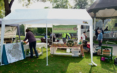Reading Town Meal - setting up the Reading Food Growing Network stall (karenblakeman) Tags: uk food reading october gb berkshire 2015 forburygardens localcommunities readingfoodgrowingnetwork rfgn readingtownmeal2015
