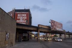 West Fullerton Avenue, Logan Square (new folder) Tags: bridge sunset usa chicago architecture america typography illinois dusk logansquare friedchicken thel trainline westfullertonavenue