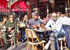 2015-10-10  Paris - Esplanade Saint-Eustache - Rue Montorgueil (P.K. - Paris) Tags: street people paris café french terrace candid terrasse sidewalk octobre 2015