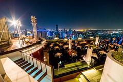 The Dome Sky Bar Bangkok (smithtecart) Tags: city skyline architecture bar night thailand lights cityscape bangkok aerial explore f28 chaopraya skybar statetower thedome krungthepmahanakhon 14mm thonburi samyang explored lebua totallythailand nikond750