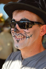 Skullful smile (radargeek) Tags: oklahoma sunglasses festival dayofthedead event okc facepaint oklahomacity 2015 plazadistrict