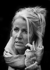 Online (D80_423045) (Itzick (Away for 10 days)) Tags: bw woman face copenhagen denmark candid cellphone online bwportrait