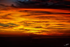 Right here, my soul went dancing between the burned clouds.. (wessoufi) Tags: light sunset sky orange mountain yellow clouds dark landscape golden sweet dream vivid aixenprovence glorious summit romantic saintevictoire extremesky