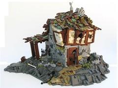 The Haunted Inn (W. Navarre) Tags: door roof brown rock inn lego cottage tudor ccc