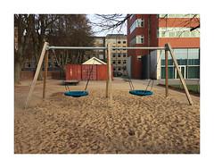 Swing structure II (csinnbeck) Tags: street blue autumn red brown playground denmark october phone swings footprints swing aarhus iphone legeplads 2015 gynger gynge iphone6