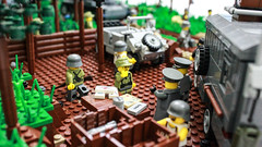 Briefing (kr1minal) Tags: world b 2 war lego bricks wwii panzer moc dioramrickmaniaa