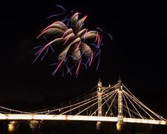 The Lights Fantastic (RoySutherland235) Tags: london fireworks embankment albertbridge chelseaembankment
