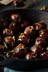 Organic Roasted Chestnuts with Herbs (brent.hofacker) Tags: christmas autumn winter food brown fall nature fruit season crust healthy october shiny natural skin sweet background traditional rustic seasonal shell tasty fresh gourmet delicious chestnuts snack rosemary vegetarian chestnut organic nut peel wintertime edible roastedchestnuts husk heap herb roasted roastchestnut