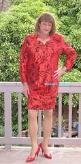 Suit 54c (Melissa451) Tags: shiny highheels skirtsuit