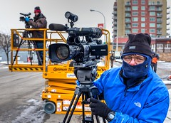 Shooters (evanffitzer) Tags: street camera city winter cold television outdoors photography video downtown parade production kamloops hdr shooters jvc liveproduction evanffitzer evanfitzer fujifilmx100s