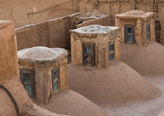 historic hammam baths roof, Yazd Province, Yazd, Iran (Eric Lafforgue) Tags: city roof urban building history glass horizontal architecture buildings outdoors photography persian ancient bath rooftops desert iran traditional middleeast culture persia nobody nopeople architectural historic roofs covered baths dome tradition catcher oriental orient domes hammam thepast cultural exteriors yazd hamam badgir persiangulfstates  buildingexterior  16035 colourimage  iro  yazdprovince builtstructure westernasia