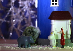 """""""How much will you donate to  Rhino Protection?"""" (Hannhell) Tags: winter rhino moomins moominhouse snorkmaiden fillyjonk"""