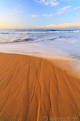 Polihale State Park, Kauai lines in the sand (lee scott 光) Tags: ocean sunset usa seascape beach nature water flow outdoors hawaii movement sand calming kauai polihale serene eveninglight leescott beachscene kauaisunset hawaiianislands polihalebeach polihalestatepark rightsmanaged kauaibeach polihalesunset sandyshore hawaiiancoastline kauaibeaches lightsourcephotographybyleescott