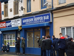 Goodison Supper Bar (lcfcian1) Tags: park city uk england sport football leicester takeaway premier league chippy chipshop efc premiership everton goodisonpark bpl goodison epl leicestercity lcfc evertonfc evertonvleicestercity
