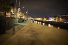 Liffey Promenade (oliko2) Tags: liffey river dublin city banister night d7100 sigma1750 f28 ireland water reflection lights sky promenade
