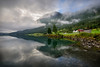 The arrow mountain (alexring) Tags: sky water oppstrynsvatnet sognogfjordane norway stryn flo mountain mist low clouds mirror reflection lake moody view morning alexring nikon d750