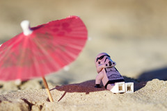 Relax on the beach (Chris_DP) Tags: relax beach star wars stormtrooper darth vader lord fener empire dark side sea umbrella guerre stellari lego brick toy canon photo force awakens
