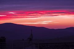 UN TRAMONTO   ---   A SUNSET (Ezio Donati is ) Tags: natura nature tramonto sunset luci lighr italia italy lazio canalemonterano colori colors rosso red colline hills panorama landscape