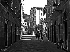 """Street Captures"" (giannipaoloziliani) Tags: street streetblackandwhite urbanstreet urban urbanblackandwhite urbanphoto country liguria italy biancoenero monochromatic monocromo italia people captures streetcaptures sky skyline paese camogli nikon nikonphoto nikonphotography nikond3200 hard dark darkness obscure shadows sunlight shapes ombre light luce scuro buio oscuro strange"