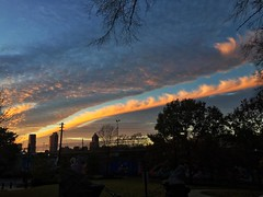 343/366 (moke076) Tags: 2016 365 366 project366 project 365project project365 oneaday photoaday vsco vscocam cell cellphone iphone mobile sunset atlanta ga night sky clouds pink silhouette buildings skyline trees formation odd cabbagetown