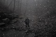 Through the waterfall. (juanstermonster) Tags: x100t fuji winter slippery wet walk hike waterfall