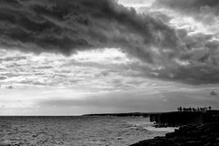 Big Storm; Big Island (brev99) Tags: hawaii clouds blackandwhite perfecteffects17 thebigisland seascape cloudscape surf colorefex stormysky tamron28300xrdiif d90 cameracorrectionfilter breath taking landscapes