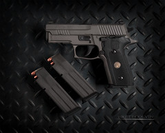 Sig Sauer P229 Legion (Fly to Water) Tags: sig sauer p229 legion handgun pistol combat tactical self defense concealed carry 9mm professional product photography diamond plate semi automatic law enforcement