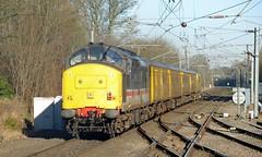 Network Rail Class 97/3 97303 and Colas Rail Freight Intercity Swallow Class 37 37254 accelerate through Barnt Green (Oz_97) Tags: barntgreen colasrailfreight britishrail intercityswallow 97303 37254 networkrail