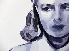 Stromboli (Esther Martínez Rey) Tags: oil painting stromboli ingrid bergman film cine cinema sad worried thoughtful portrait woman italy talens rembrandt