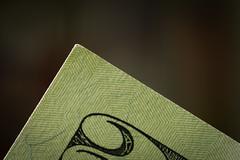 Corner of $20 bill (fingerprints1148) Tags: macromondays corner money paper currency bill 20 green macro closeup