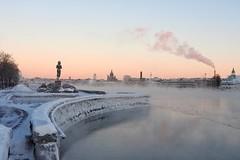 Seafoggy, frozen unusual skyline of Helsinki (KaarinaT) Tags: seafog seamist sea ice icy winter skyline kaivopuisto helsinki finland dawn morning 17degreescelsius uspenskinkatedraali theuspenskicathedral freezing